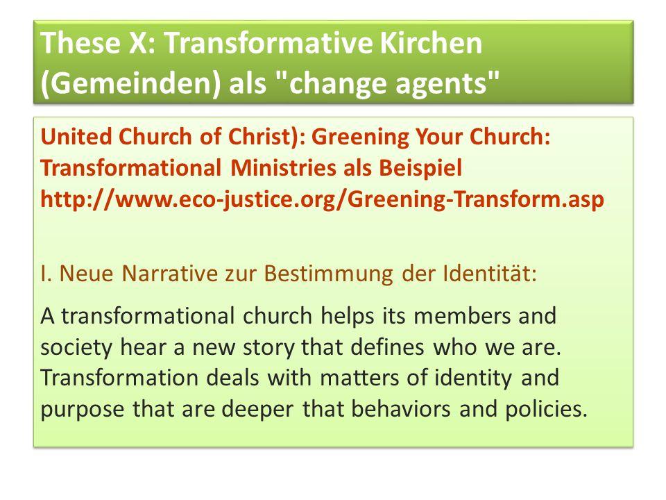 These X: Transformative Kirchen (Gemeinden) als