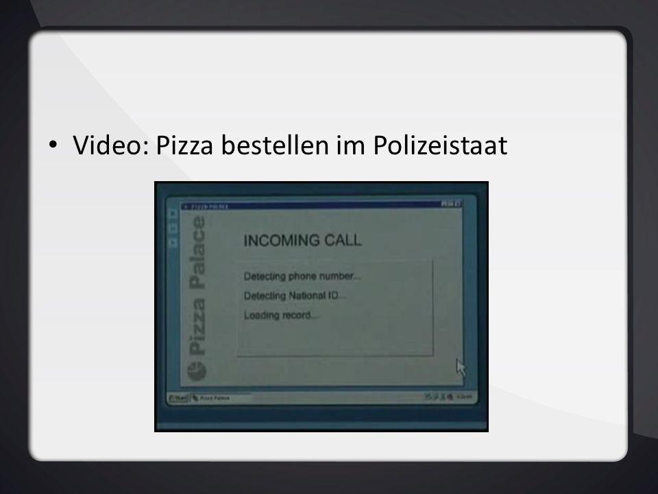 Video: Pizza bestellen im Polizeistaat