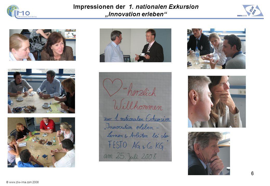 © www.zlw-ima.com 2008 7 Engpassorientierte Organisation im Werk Rohrbach der Festo AG Vortrag von Carsten Wagner Ein gewisses Maß an Chaos ist gut und das soll man auch zulassen (C.