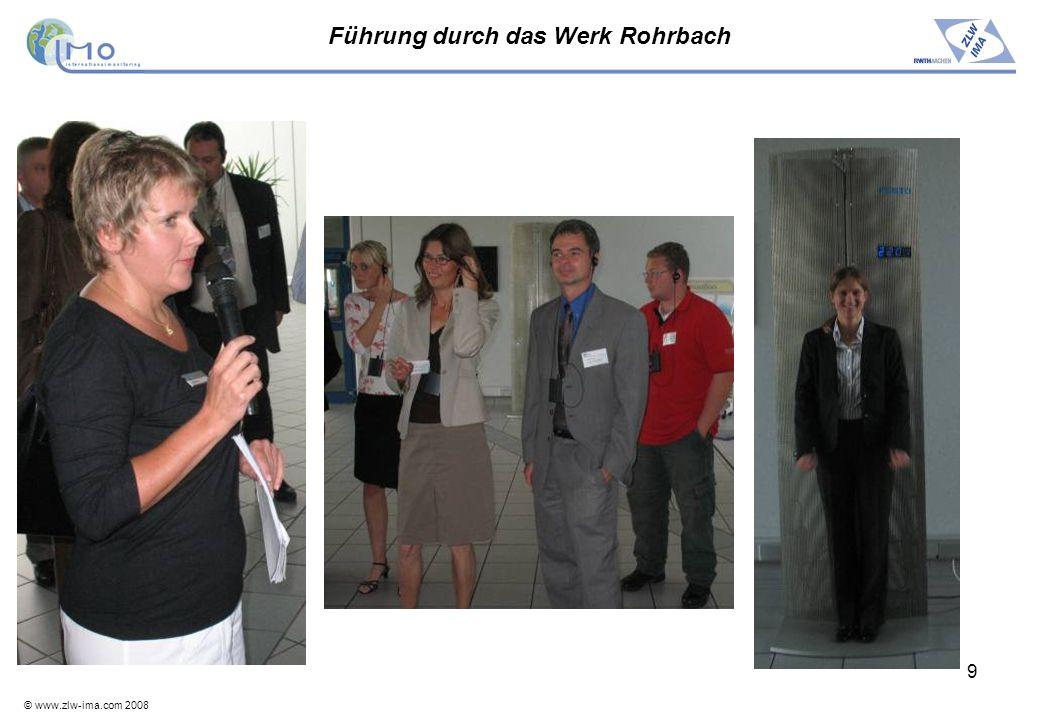 © www.zlw-ima.com 2008 10 Dilemmata der Arbeitswelt Vorstellung des Projektes IMO durch Frau Bechtloff, eine der Moderatorinnen.