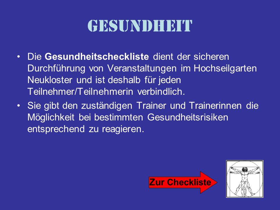 Hochseilgarten & Schullandheim Neukloster Klosterhof 2 23992 Neukloster Tel./Fax: 03 84 22 / 2 54 82 jugendscheune@t-online.de www.jugendscheune-neukloster.de Ihre Buchung können Sie von Mo - Fr zwischen 11.30 - 20.00 Uhr vornehmen.