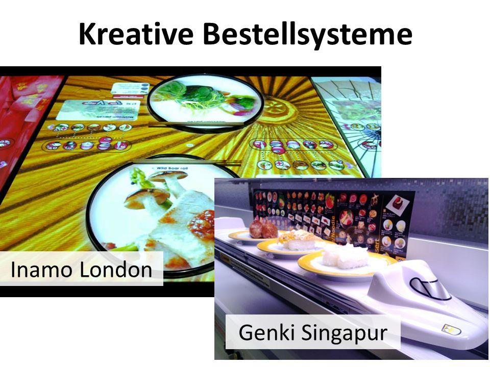 Kreative Bestellsysteme Inamo London Genki Singapur