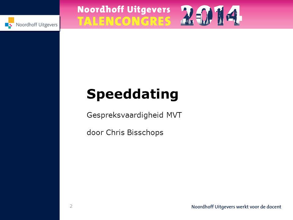 2 Speeddating Gespreksvaardigheid MVT door Chris Bisschops