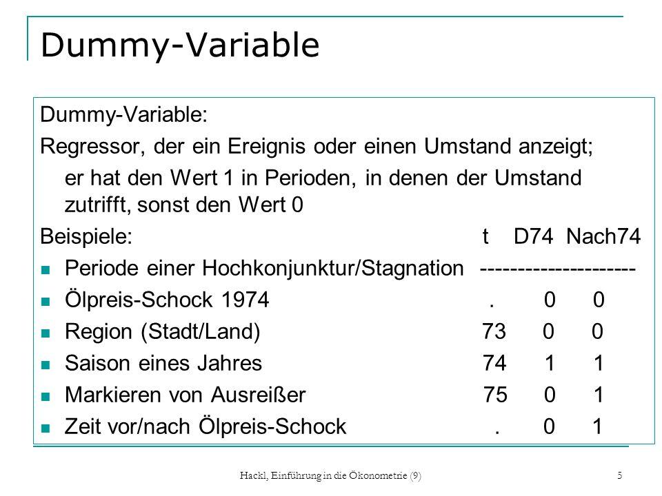 Hackl, Einführung in die Ökonometrie (9) 16 Konsumfunktion, Forts.