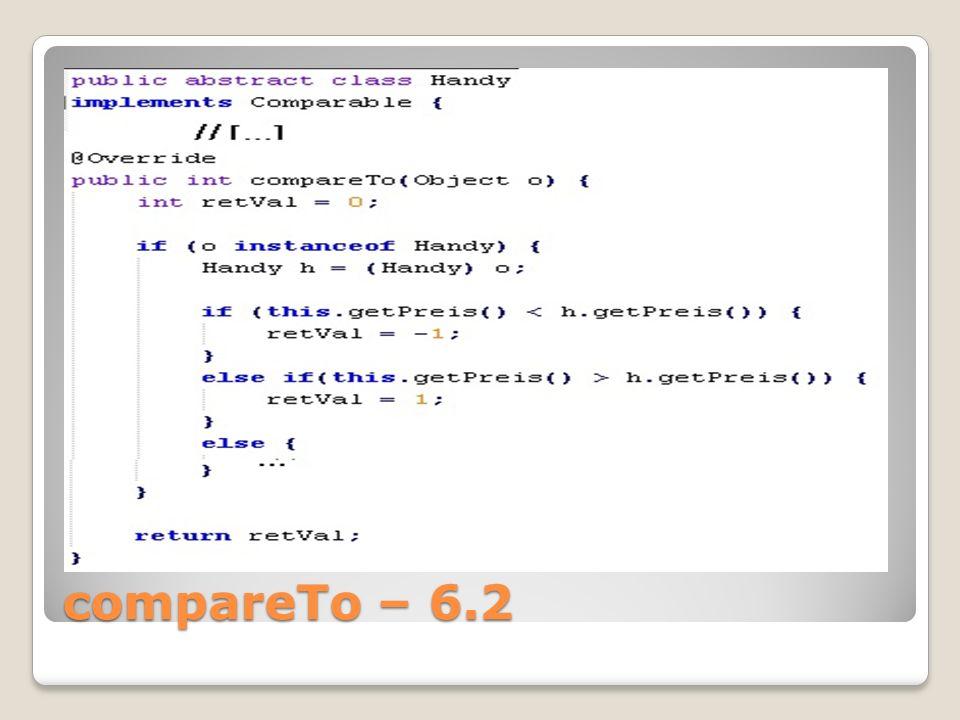 compareTo – 6.2