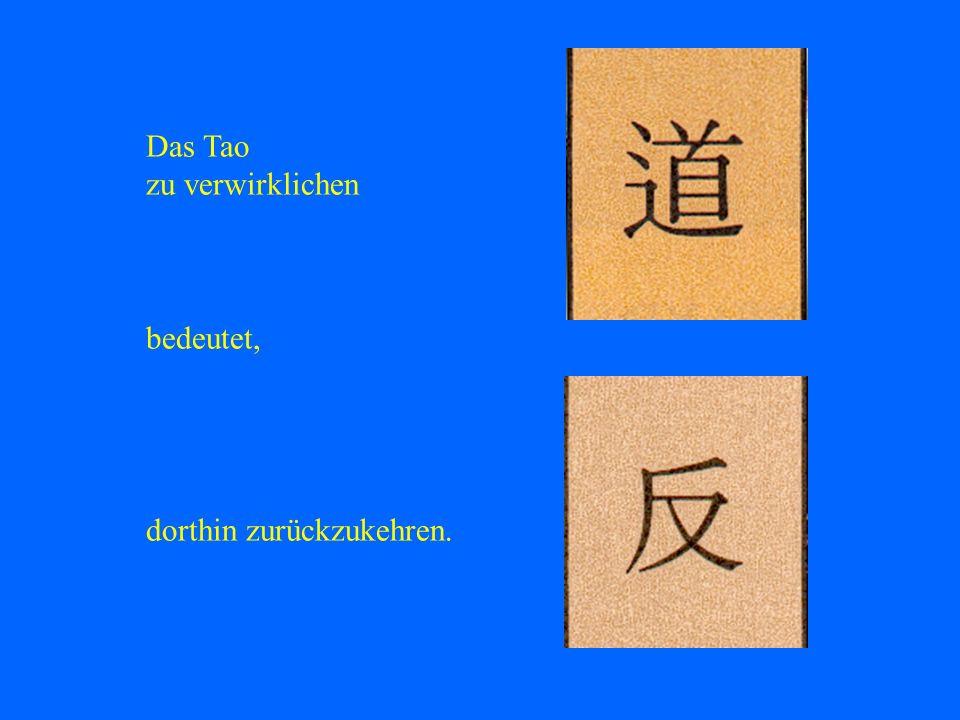 Das Tao zu verwirklichen bedeutet, dorthin zurückzukehren.