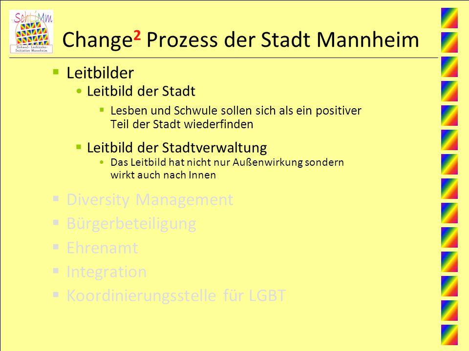 Change 2 Prozess der Stadt Mannheim Leitbilder Leitbild der Stadt Lesben und Schwule sollen sich als ein positiver Teil der Stadt wiederfinden Leitbil