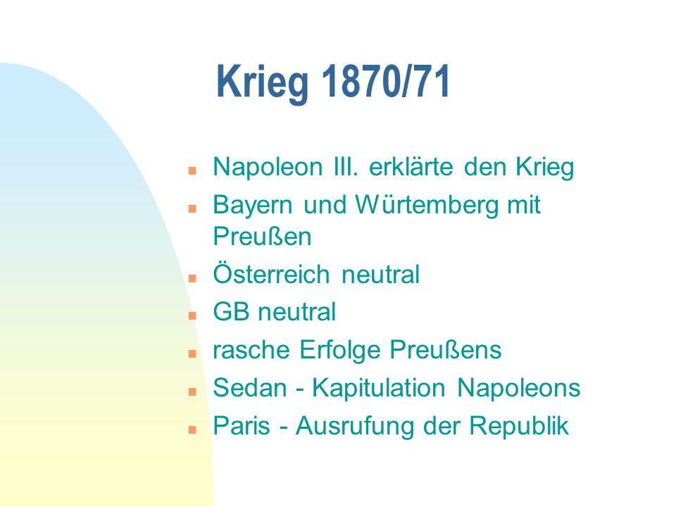 Krieg 1870/71 n Napoleon III.