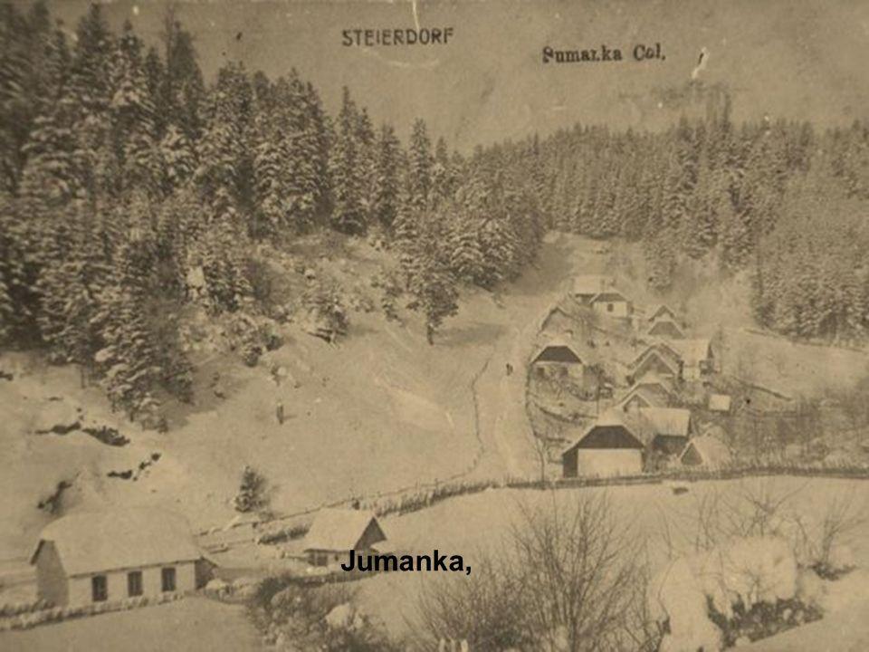 von hier sieht man das halbe Dorf, den Klub, die Schule und die Kirche.