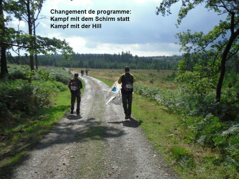 Changement de programme: Kampf mit dem Schirm statt Kampf mit der Hill