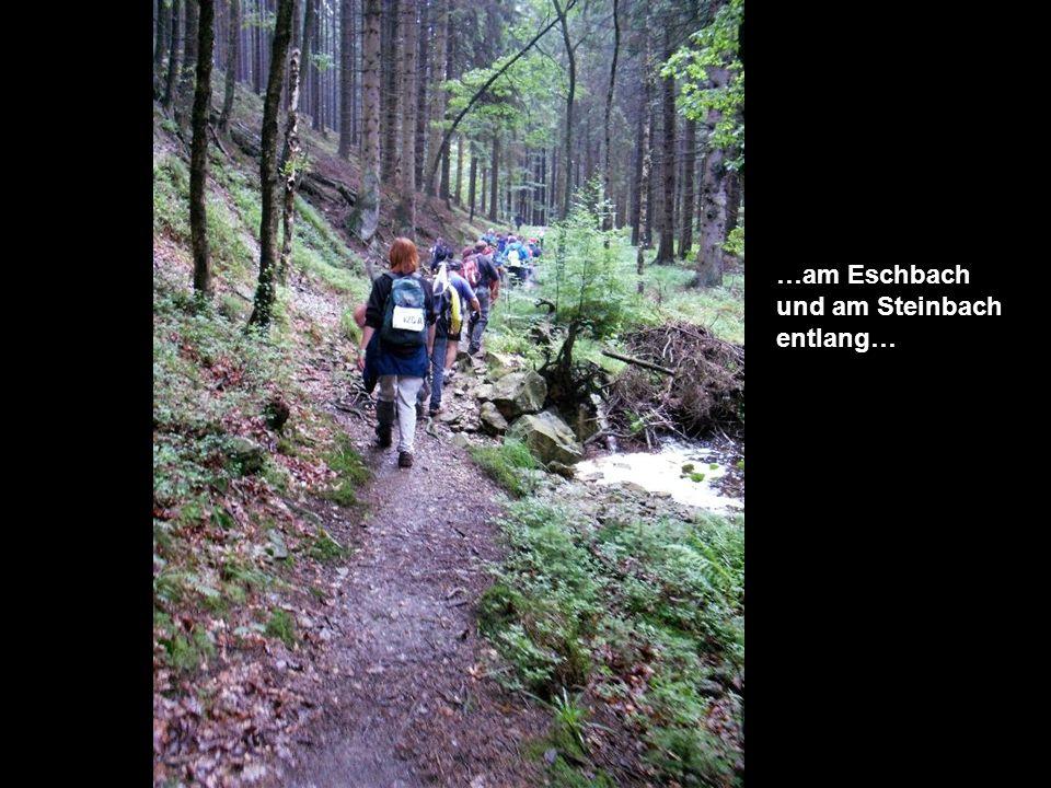 …am Eschbach und am Steinbach entlang…