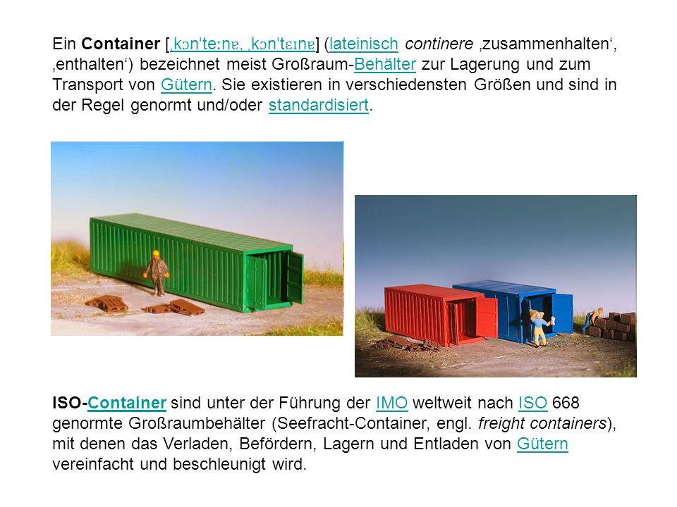 ISO-Container sind unter der Führung der IMO weltweit nach ISO 668 genormte Großraumbehälter (Seefracht-Container, engl.