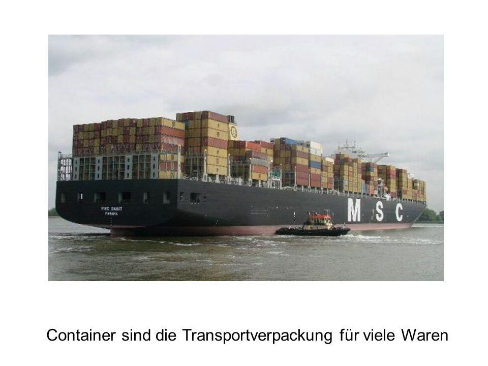 Container sind die Transportverpackung für viele Waren