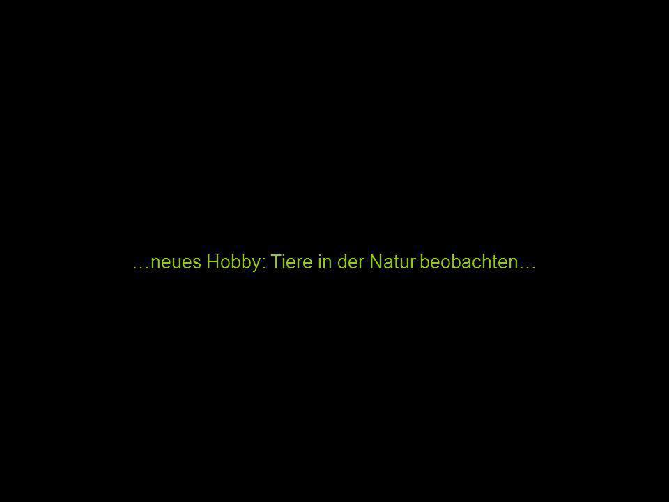 …neues Hobby: Tiere in der Natur beobachten…