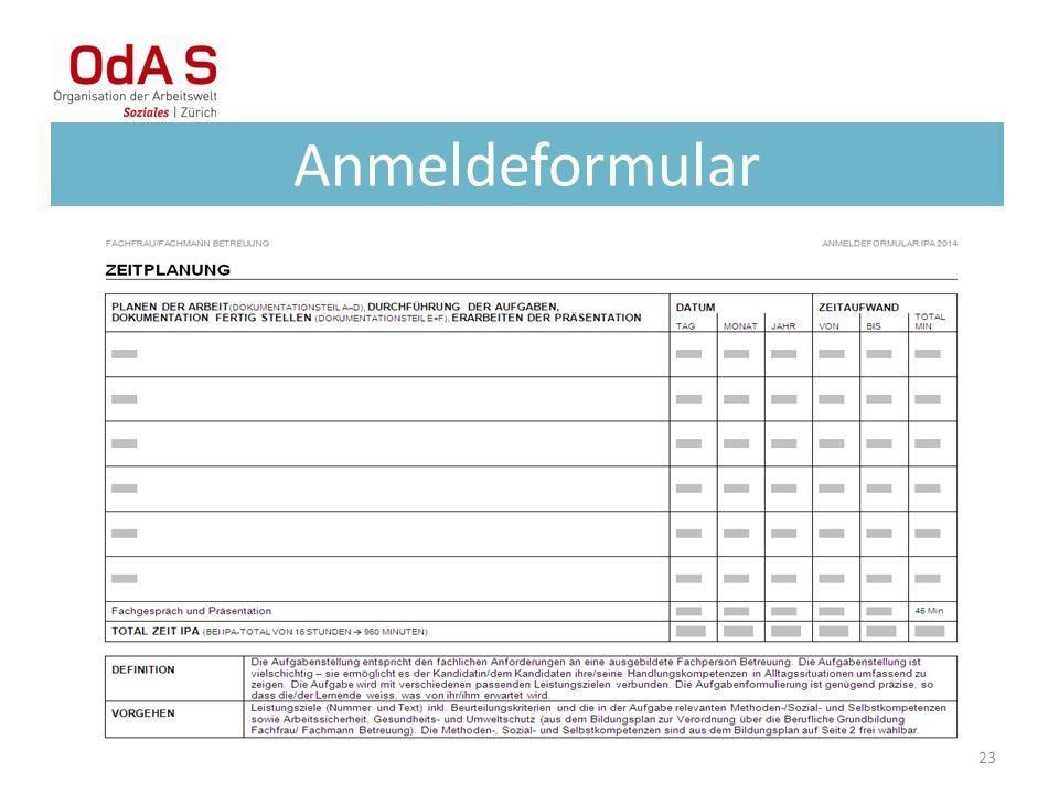 Anmeldeformular 23