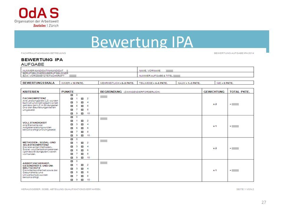 Bewertung IPA 27
