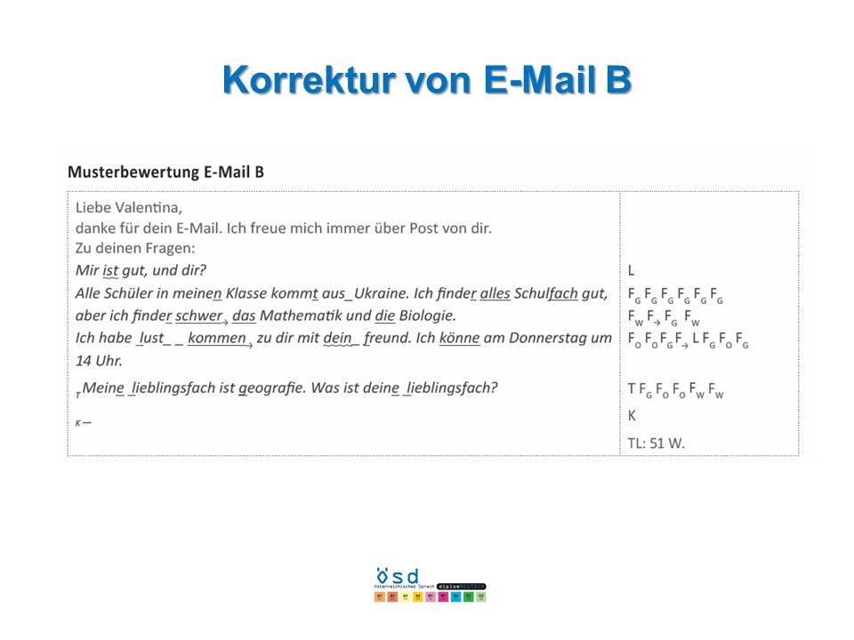 Korrekturvon E-Mail B Korrektur von E-Mail B