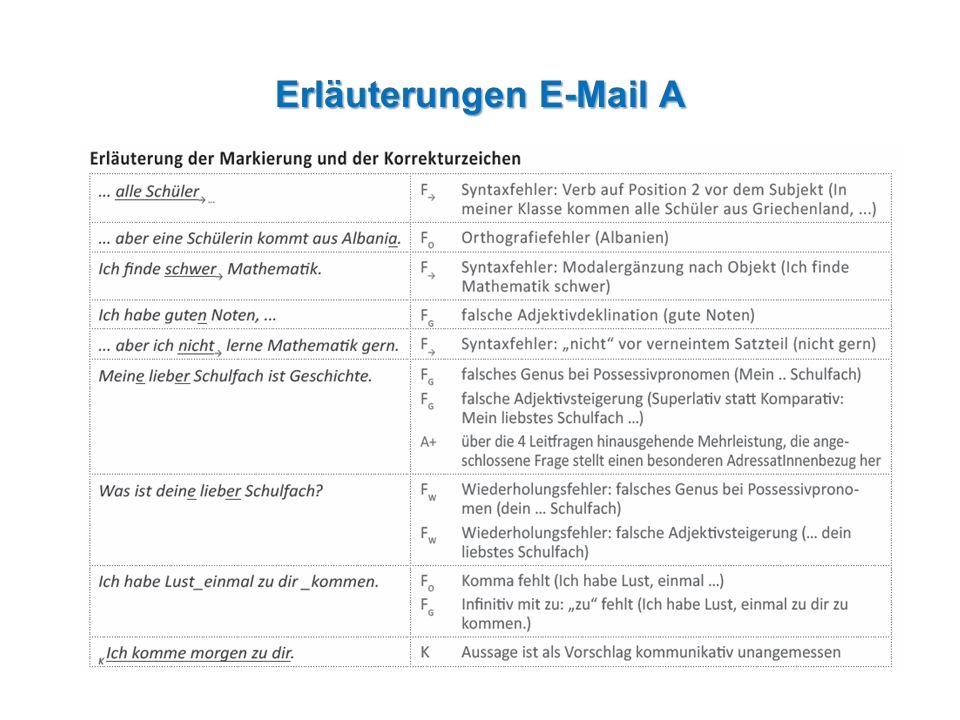Erläuterungen E-Mail A