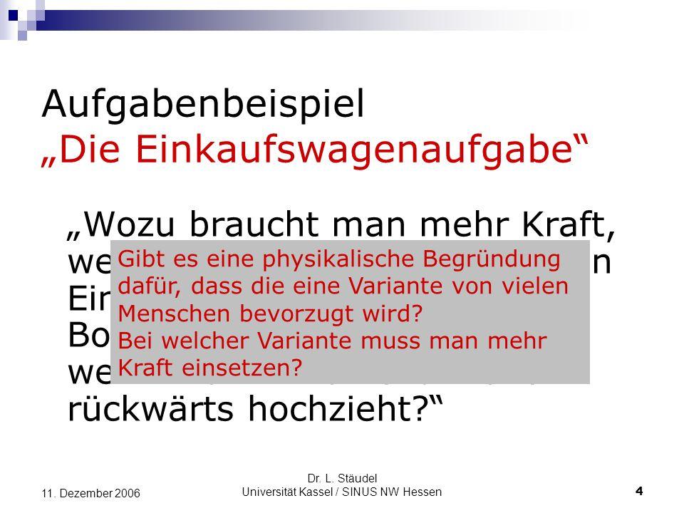 Dr.L. Stäudel Universität Kassel / SINUS NW Hessen 4 11.