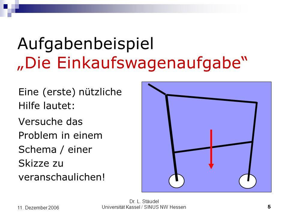 Dr.L. Stäudel Universität Kassel / SINUS NW Hessen 16 11.