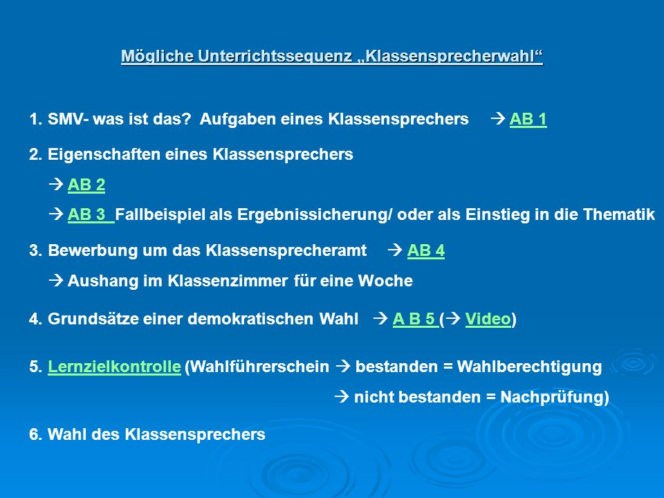 Wahltag § 11 (1) VSO – Wahl Ab 5.Jgst.