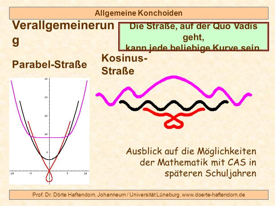 Prof. Dr. Dörte Haftendorn, Johanneum / Universität Lüneburg, www.doerte-haftendorn.de Allgemeine Konchoiden Verallgemeinerun g Parabel-Straße Die Str
