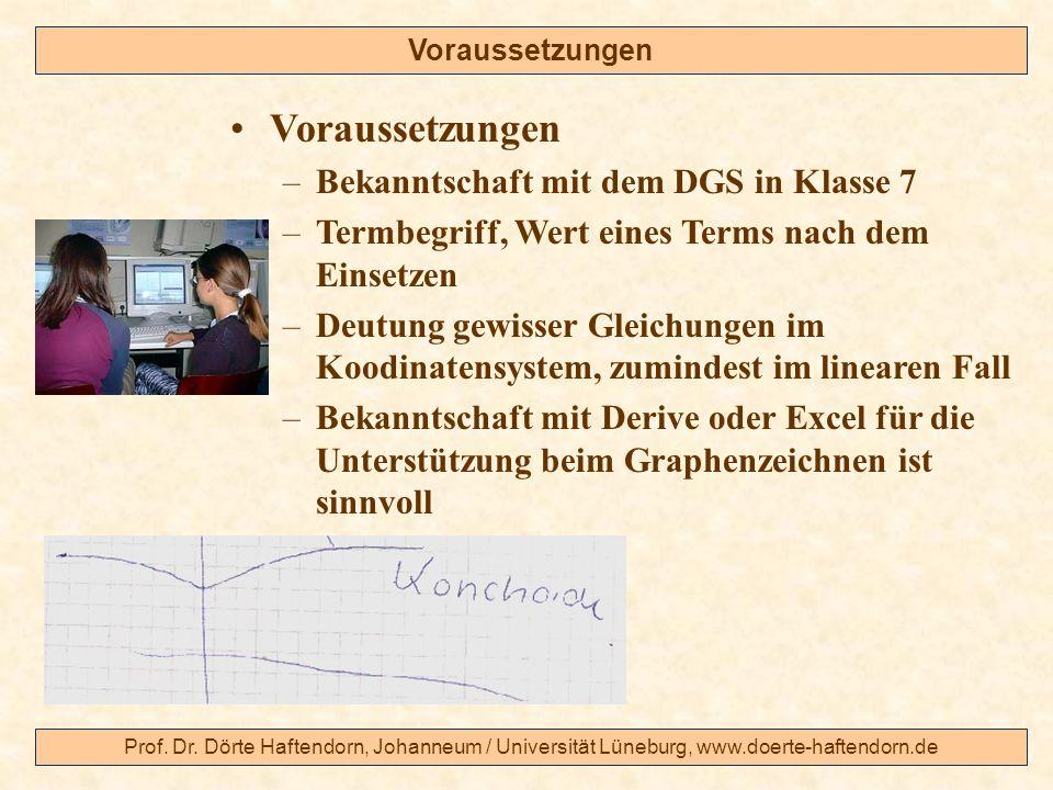 Prof. Dr. Dörte Haftendorn, Johanneum / Universität Lüneburg, www.doerte-haftendorn.de Voraussetzungen –Bekanntschaft mit dem DGS in Klasse 7 –Termbeg