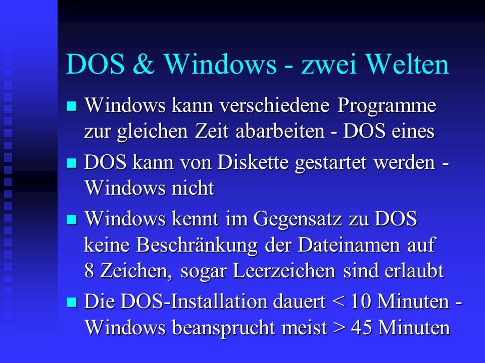 Dateiarten n.exe.bat.com Dateien sind direkt aufrufbar. n.txt.hlp.wri.doc.xls.cdr.ppt.mdb Dateien enthalten Texte oder Dokumente. Sie können nur mit H