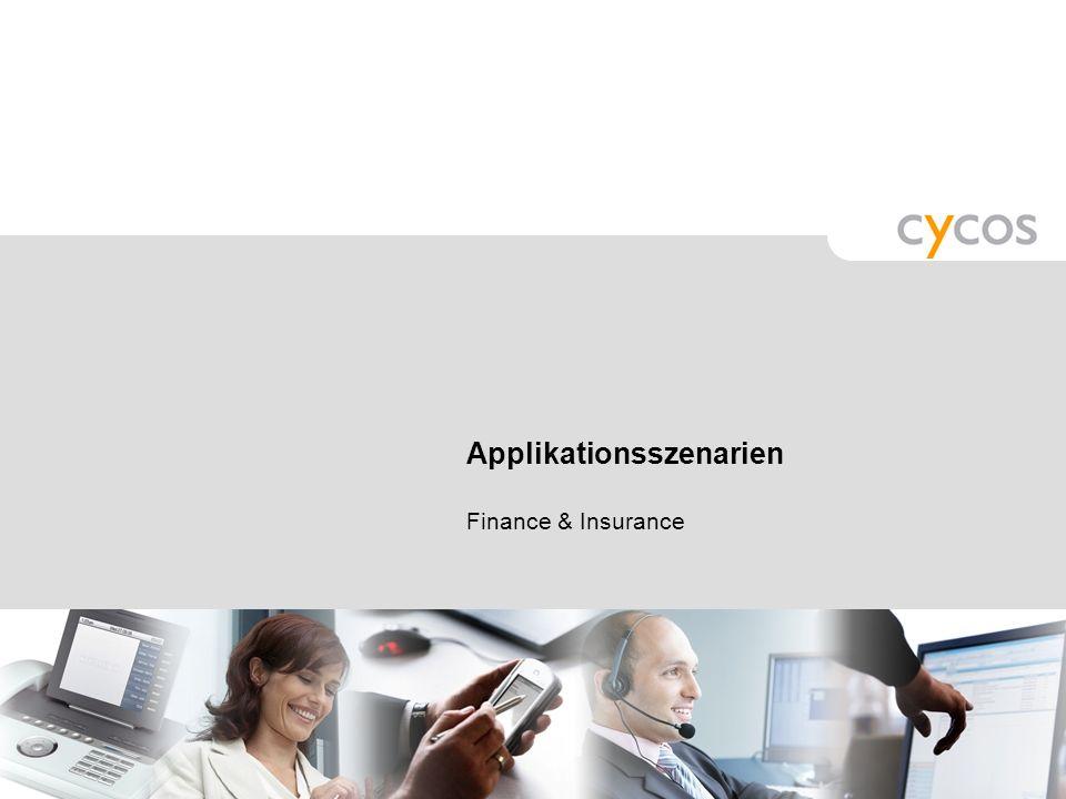 Applikationsszenarien Finance & Insurance
