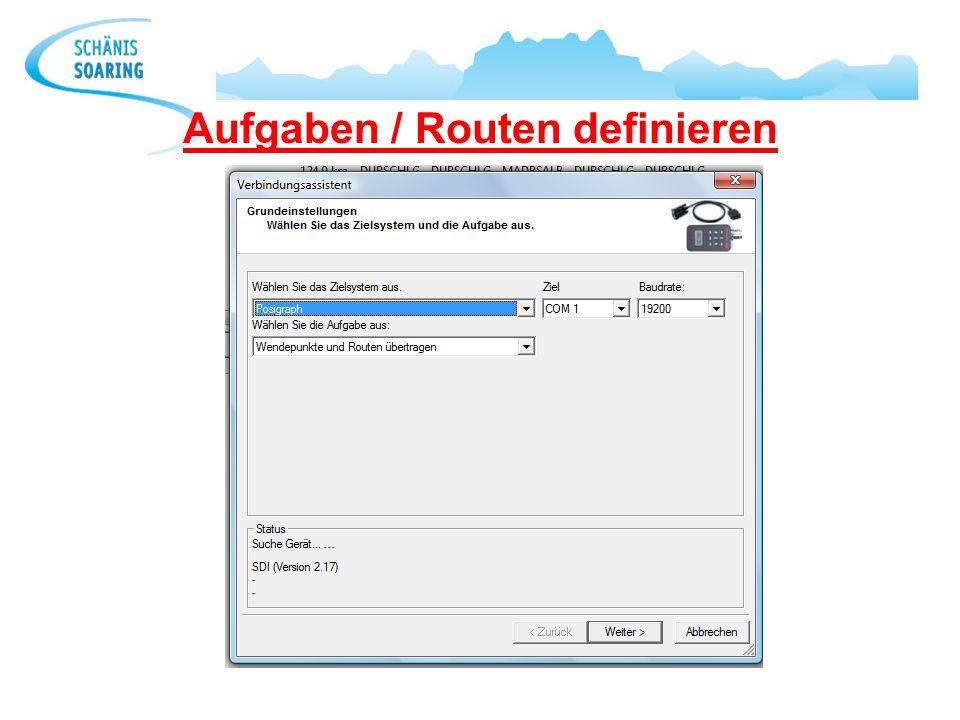 Aufgaben / Routen definieren