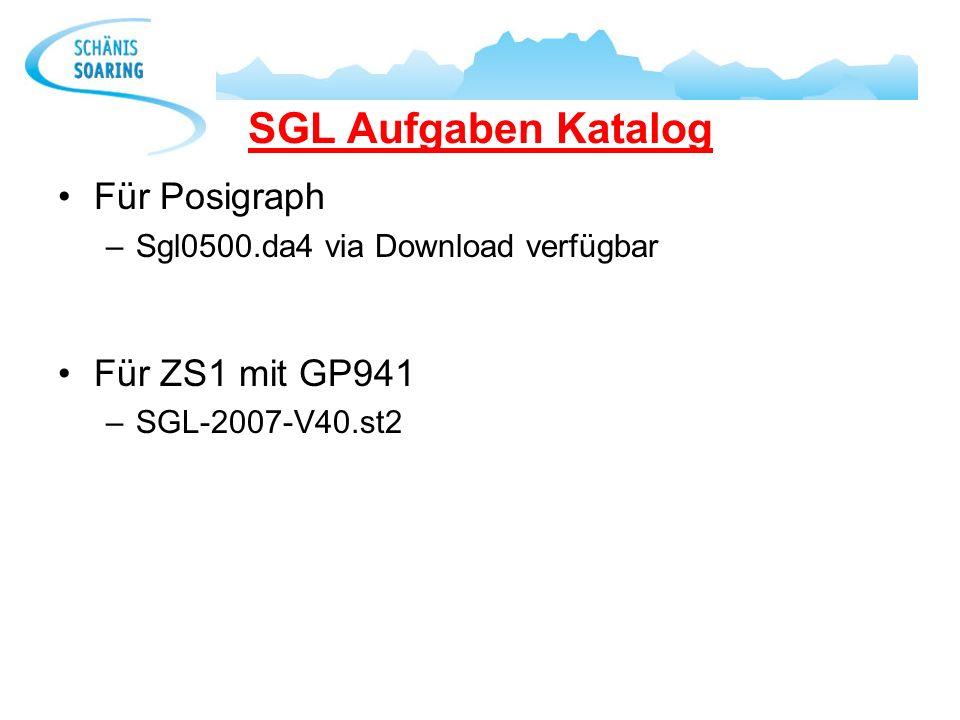 SGL Aufgaben Katalog Für Posigraph –Sgl0500.da4 via Download verfügbar Für ZS1 mit GP941 –SGL-2007-V40.st2