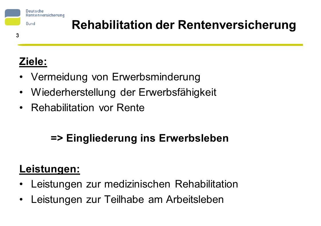4 Deutsche Rentenversicherung Bund Bewilligungen - Ausgaben 2005 Bewilligte Leistungen: Medizin.