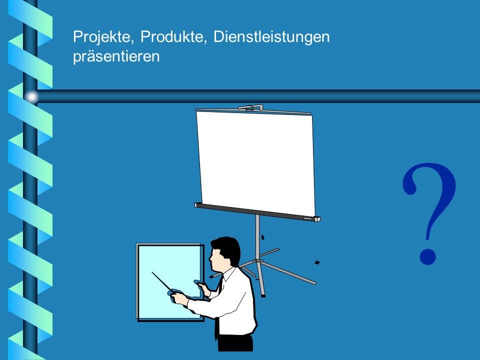 ? Projekte, Produkte, Dienstleistungen präsentieren