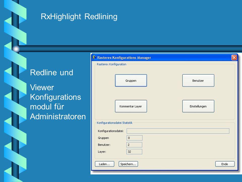 RxHighlight Redlining Redline und Viewer Konfigurations modul für Administratoren