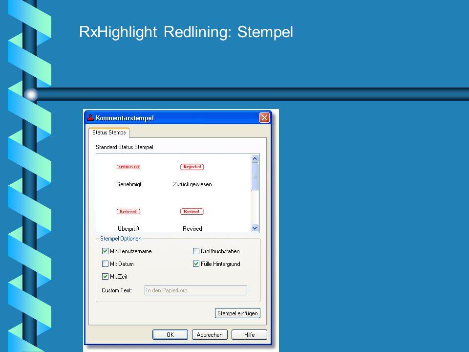 RxHighlight Redlining: Stempel