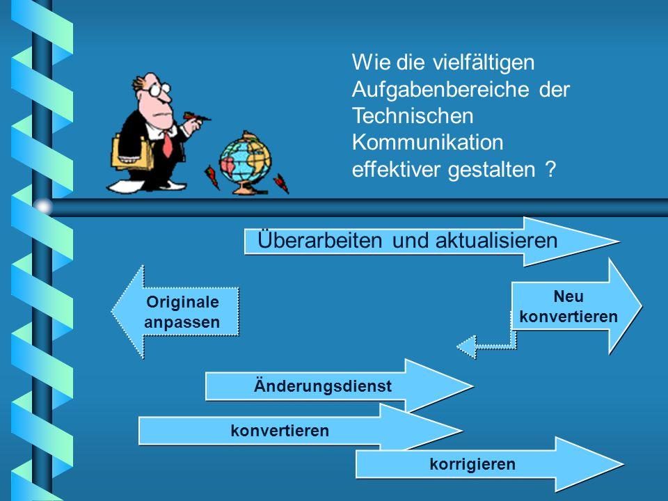 Originale anpassen Änderungsdienst konvertieren korrigieren Neu konvertieren Überarbeiten und aktualisieren Wie die vielfältigen Aufgabenbereiche der
