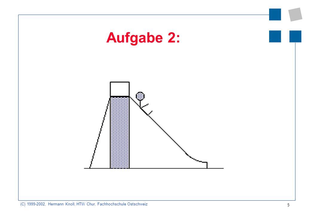 (C) 1999-2002, Hermann Knoll, HTW Chur, Fachhochschule Ostschweiz 5 Aufgabe 2:
