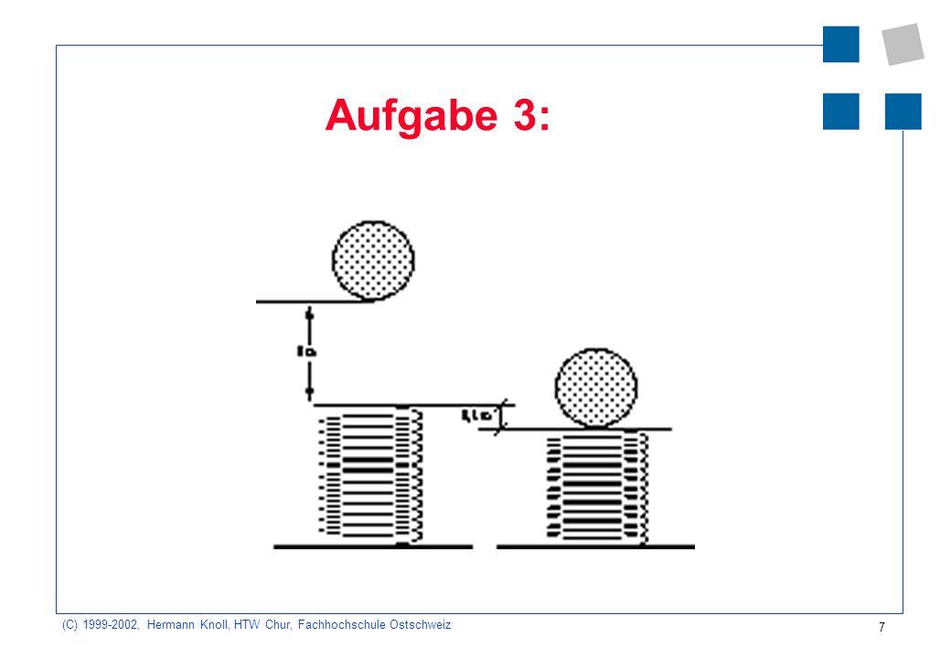 (C) 1999-2002, Hermann Knoll, HTW Chur, Fachhochschule Ostschweiz 7 Aufgabe 3: