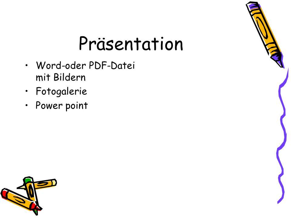 Präsentation Word-oder PDF-Datei mit Bildern Fotogalerie Power point