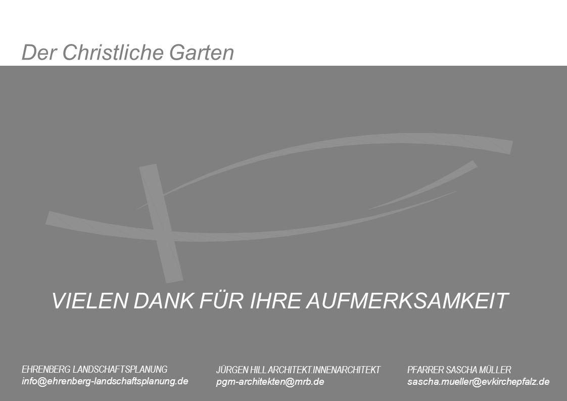 EHRENBERG LANDSCHAFTSPLANUNG info@ehrenberg-landschaftsplanung.de JÜRGEN HILL ARCHITEKT.INNENARCHITEKT pgm-architekten@mrb.de PFARRER SASCHA MÜLLER sa
