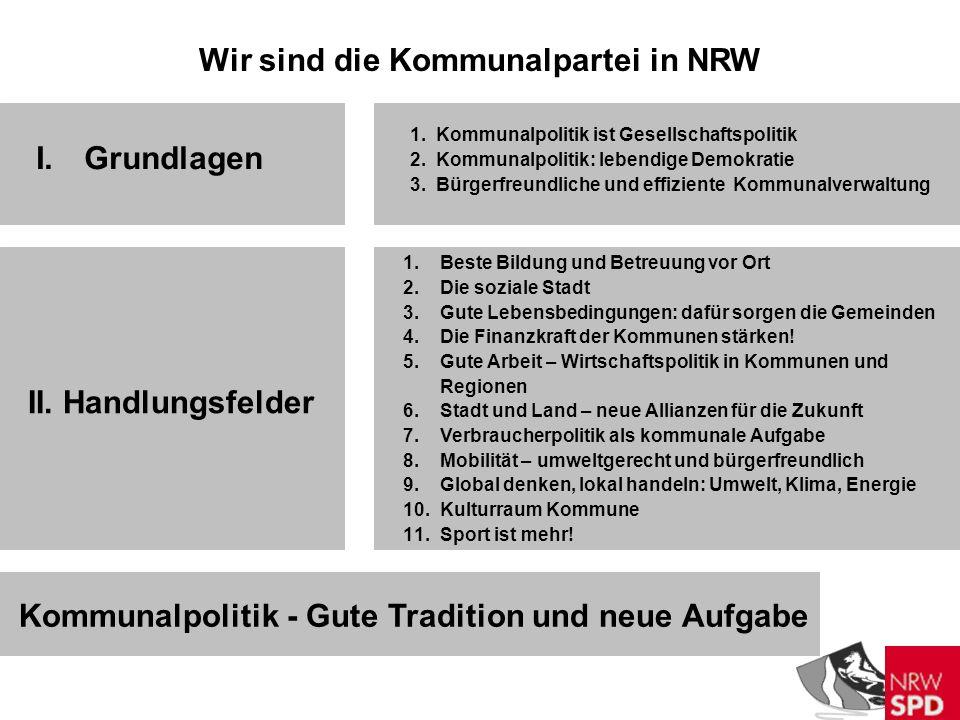 Wir sind die Kommunalpartei in NRW I.Grundlagen II.