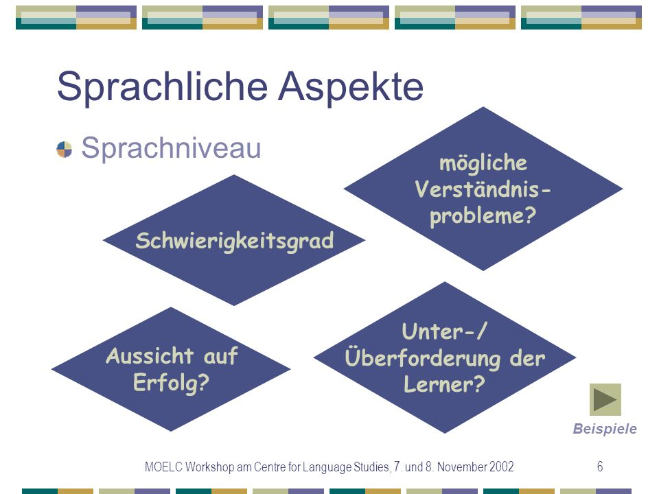 MOELC Workshop am Centre for Language Studies, 7. und 8.