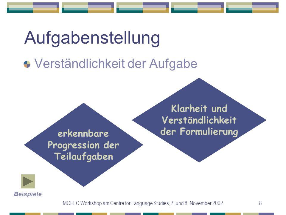 MOELC Workshop am Centre for Language Studies, 7.und 8.