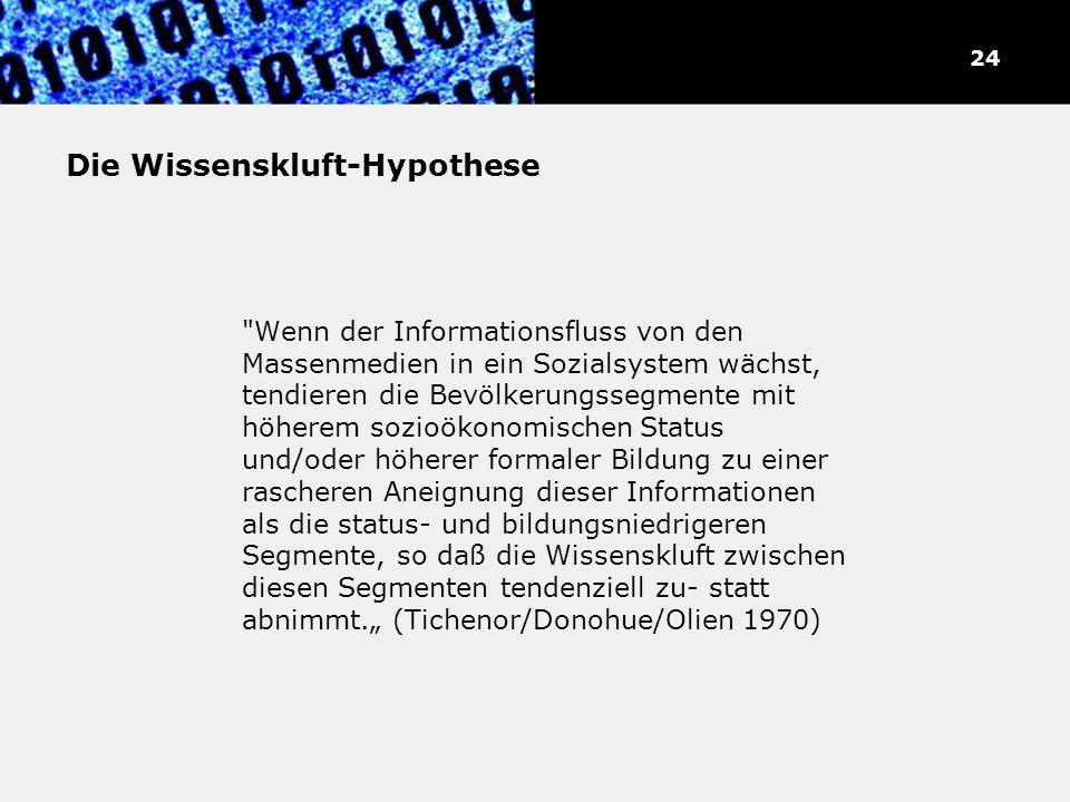 Die Wissenskluft-Hypothese