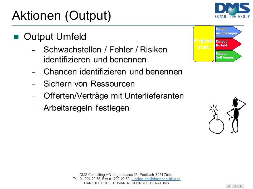 DMS Consulting AG, Lagerstrasse 33, Postfach, 8021 Zürich Tel.