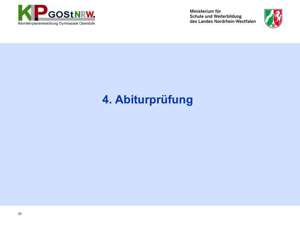 39 4. Abiturprüfung
