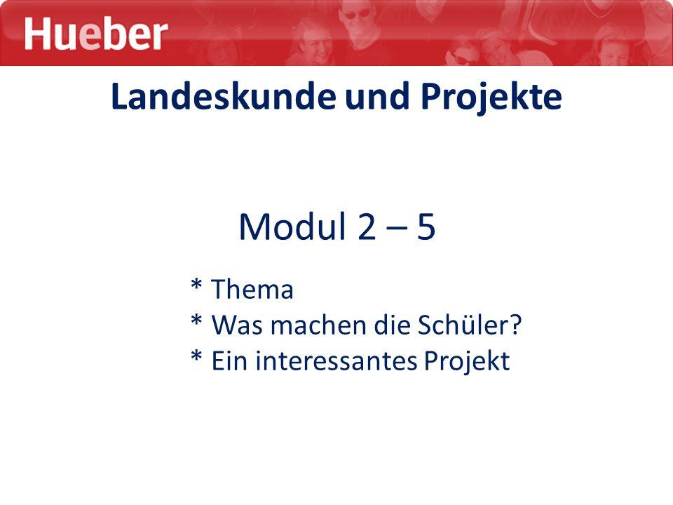 Modul 2 – 5 * Thema * Was machen die Schüler? * Ein interessantes Projekt