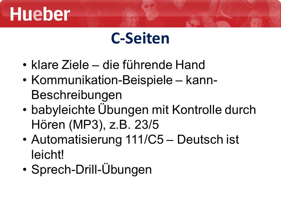 klare Ziele – die führende Hand Kommunikation-Beispiele – kann- Beschreibungen babyleichte Übungen mit Kontrolle durch Hören (MP3), z.B. 23/5 Automati