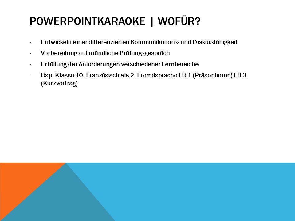 POWERPOINTKARAOKE | FÜR WEN.