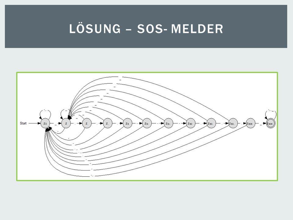 LÖSUNG – SOS- MELDER